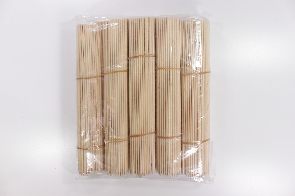 holzspieße : schaschlikspieße 25 cm (paket 1000 st.)
